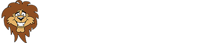 "Lincoln Lion logo with ""Home of the Lions"""
